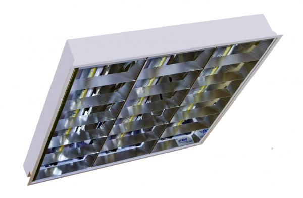 Luminaria LED modelo OFFICE LED UNILED 600 2T/3T/4T