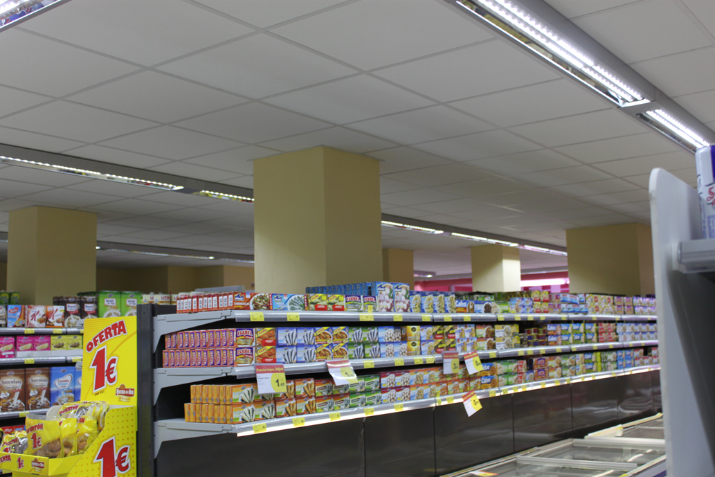 Noticias de luminarias leds iluminaci n led supermercado for Iluminacion led malaga